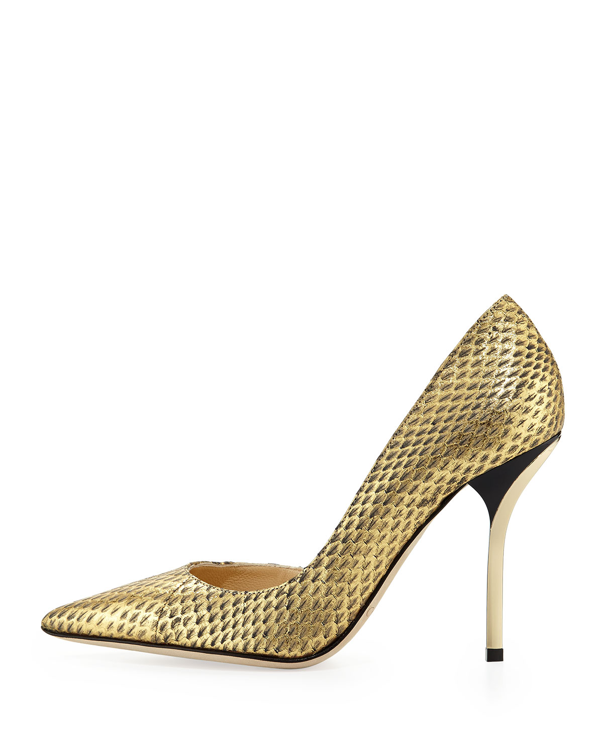 Willis Snake Half dOrsay Pump, Gold