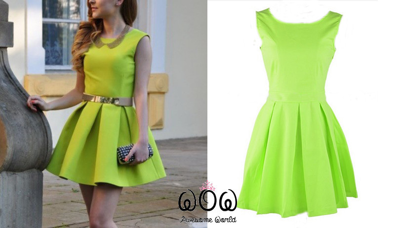 Green princess dress