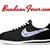 Custom Navy Bandana Nike Cortez Nylon Black/White, #paisley, #Nike #Shoes, by Bandana Fever