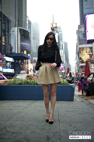 beige skirt cindiddy skirt sweater