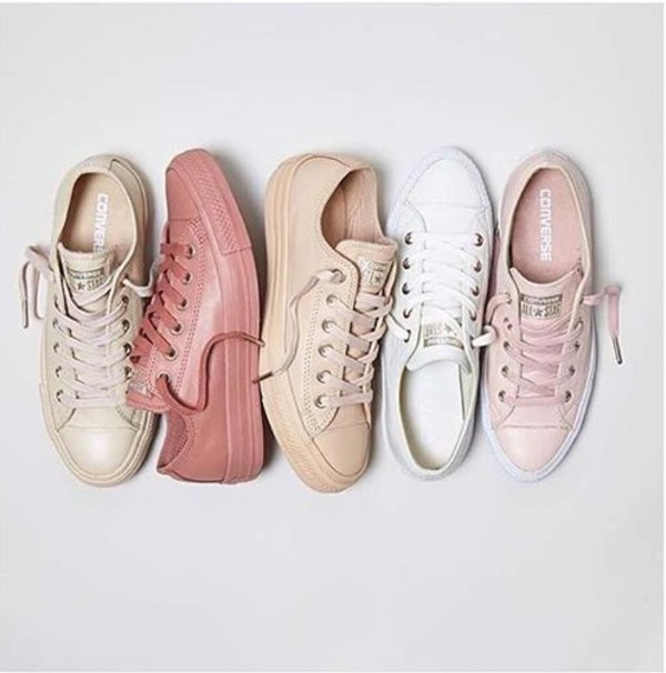 d3b45f1a2a03 shoes converse nudes converse pink white beige sneakers classy hip trendy.