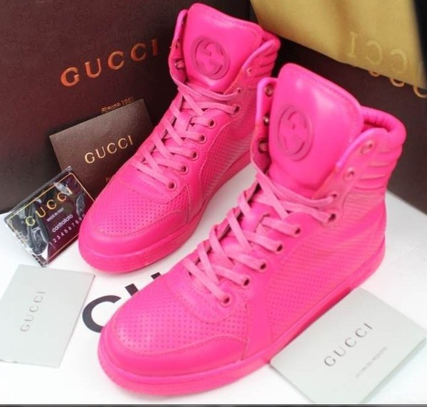 shoes pink sneakers gucci