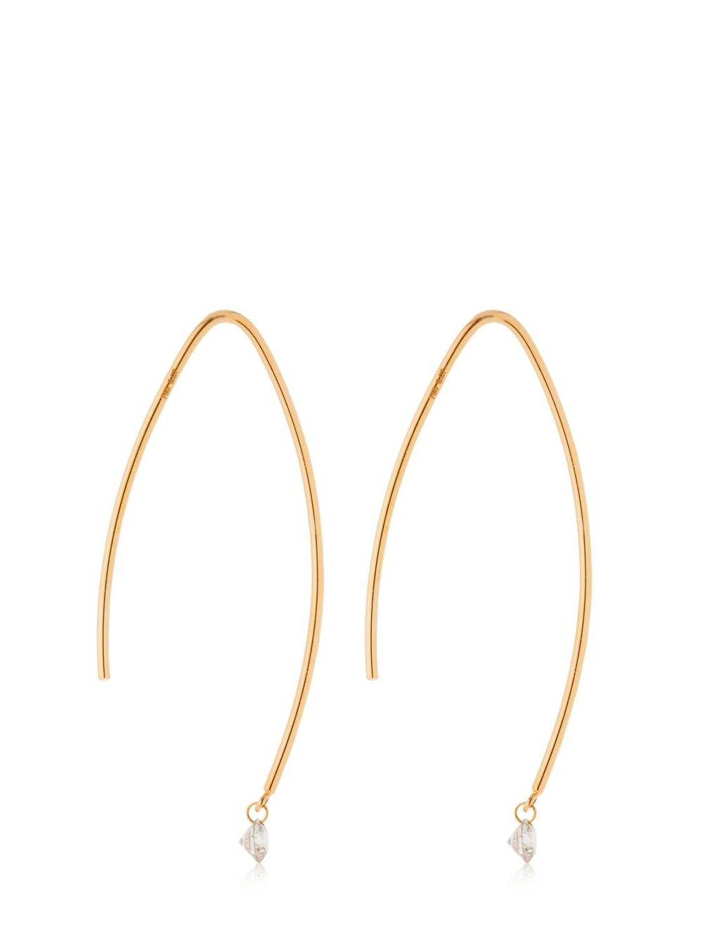 PERSÉE 0.14ctw Diamonds Long Drop Earrings in gold