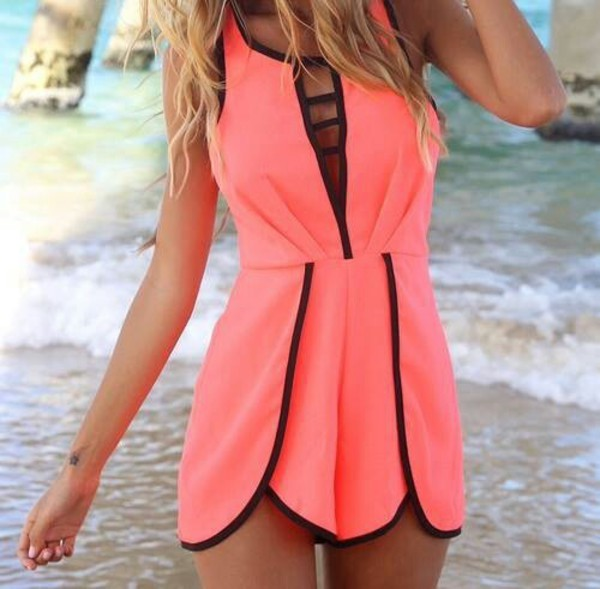 dress summer outfits summer dress summer dress summer top pink pink dress fluo fluo triangl orange dress beach beach dress black black dress