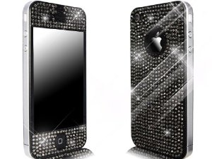 Novoskins-Coque Skin pour iPhone 4S/4-Crystal Chic-Noir: Amazon.fr: High-tech