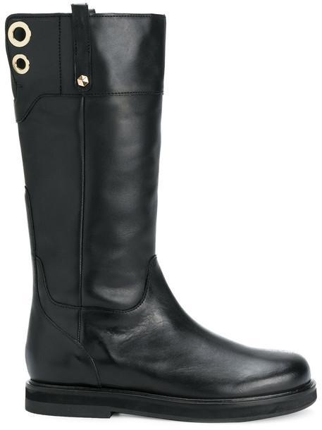 Twin-Set women leather black shoes