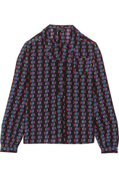 ETRO blouse black silk top
