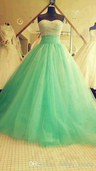 Discount Real Samples Beaded Sequins Turquoise Green Tulle Lace Appliques Floor Length Backless Formal Dresses Prom Gowns Evening Dresses 2015 Online with $128.64/Piece | DHgate