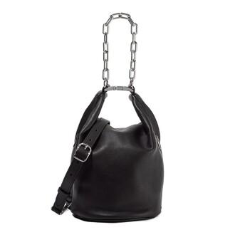 buckles metallic bag bucket bag black