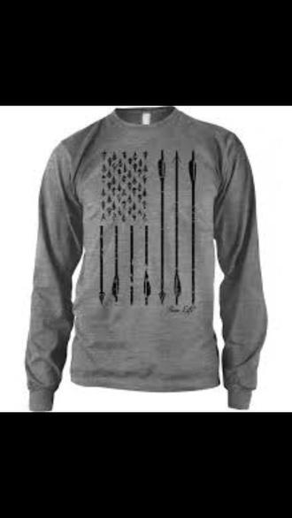 shirt archery america arrows grey sweatshirt
