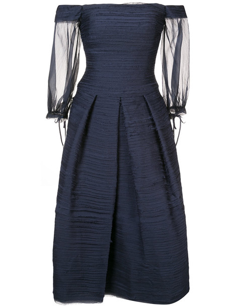 Marchesa Notte dress women blue