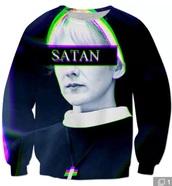 sweater,satan,asylum,american horror story,black