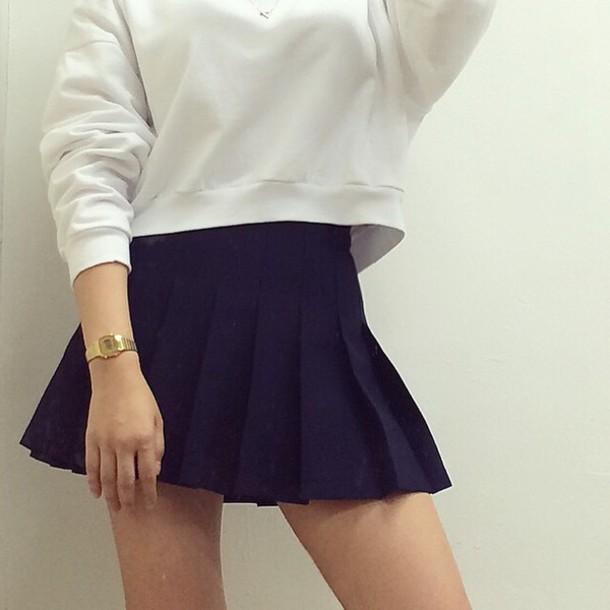 skirt tennis skirt navy tennis