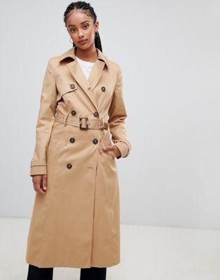 ASOS DESIGN longline classic trench coat at asos.com