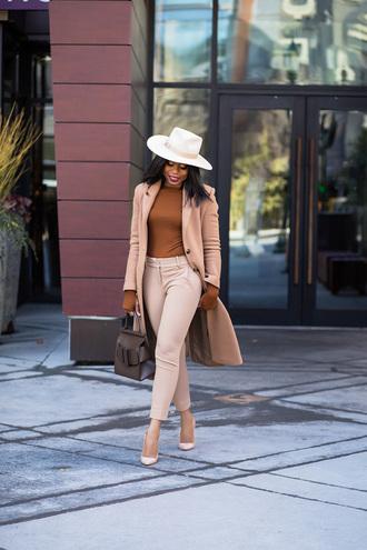 jadore-fashion blogger pants sweater top coat shoes hat bag