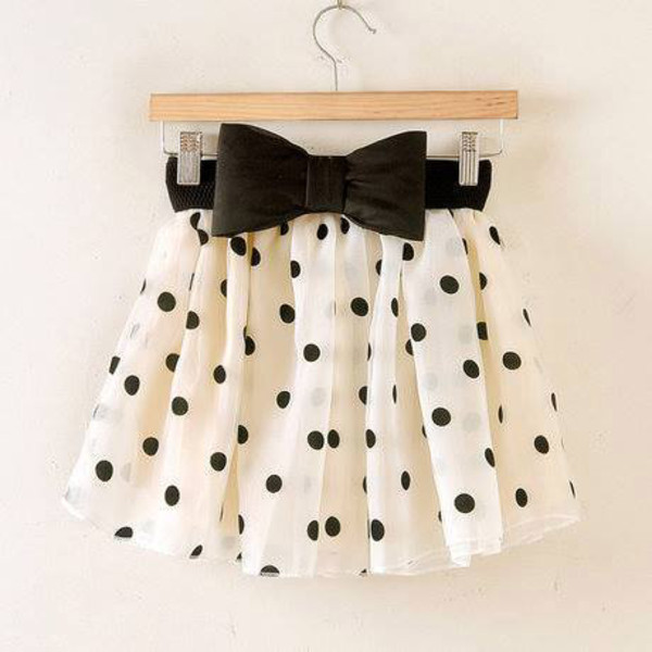 shirt skirt short points white with black dots black bow belt bows
