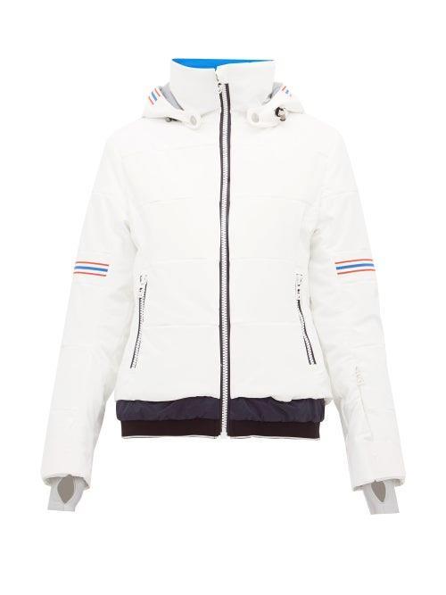 Toni Sailer - Antonia Striped Soft Shell Ski Jacket - Womens - White Multi