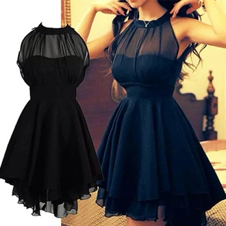 dress black little black dress cute dress short prom dress black dress clothes outfit fashion