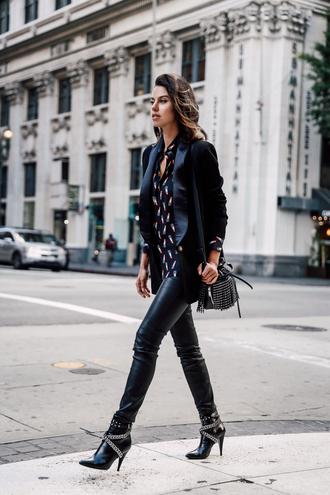 viva luxury blogger blouse pants bag jacket shoes