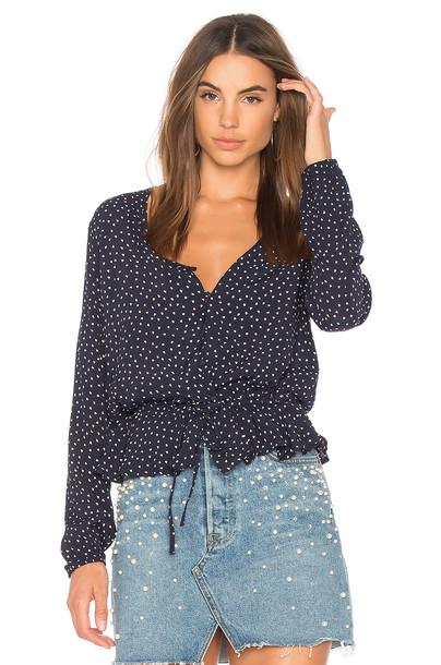 Rails blouse navy top