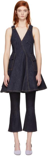Carven dress denim dress denim short