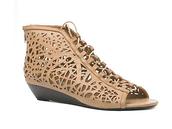 sandals,lace,medium heels,leather,mosaic,brown shoes,black shoes,orange shoes,yellow shoes,pink shoes,shoes