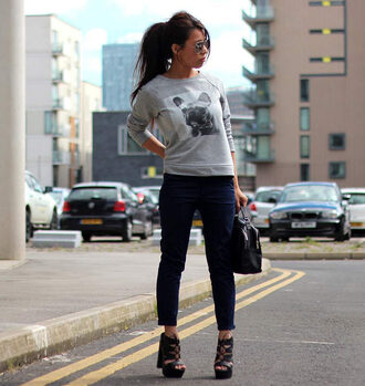 article 21 blogger sweater pants shoes bag sunglasses
