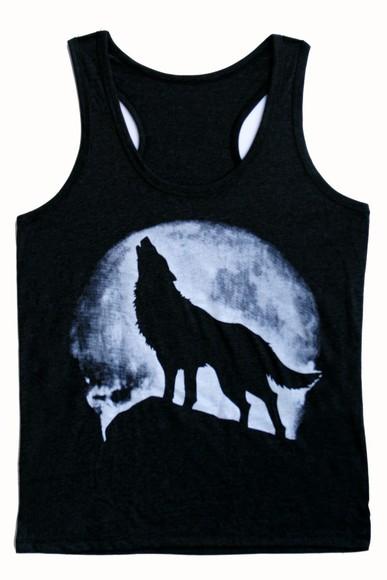 lady gaga t-shirt blouse skirt ladies wolf moon teen tanks top tank top rock