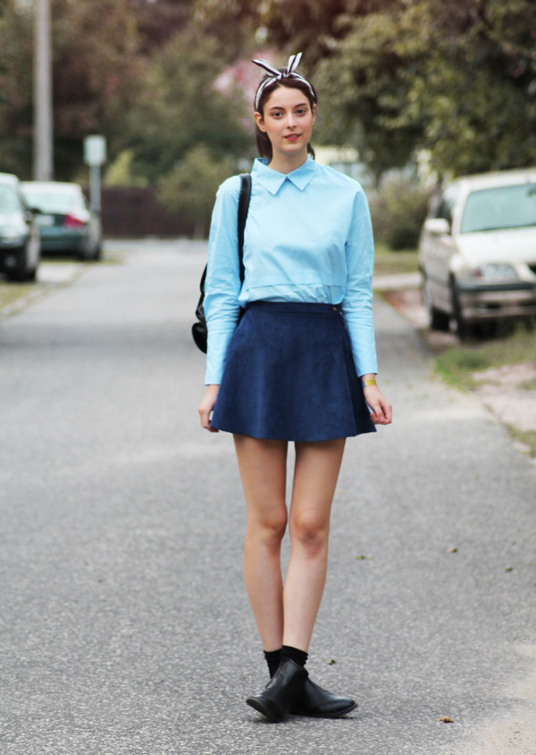 mes memos blogger skirt bag shoes