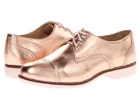 Cole Haan Gramercy Oxford Cap Metallic Rose Gold/Pink Linen - Zappos.com Free Shipping BOTH Ways