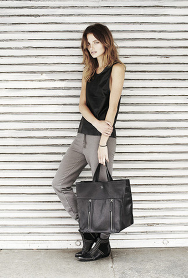 tank top anine bing lookbook fashion pants shoes bag