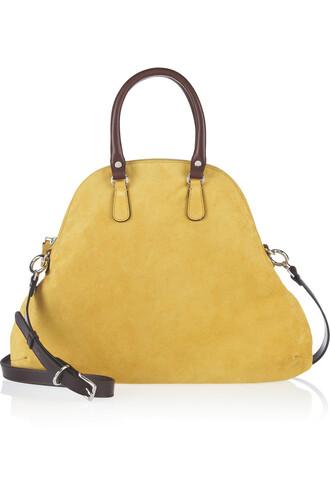 bag suede shoulder bag marni shoulder bag beige