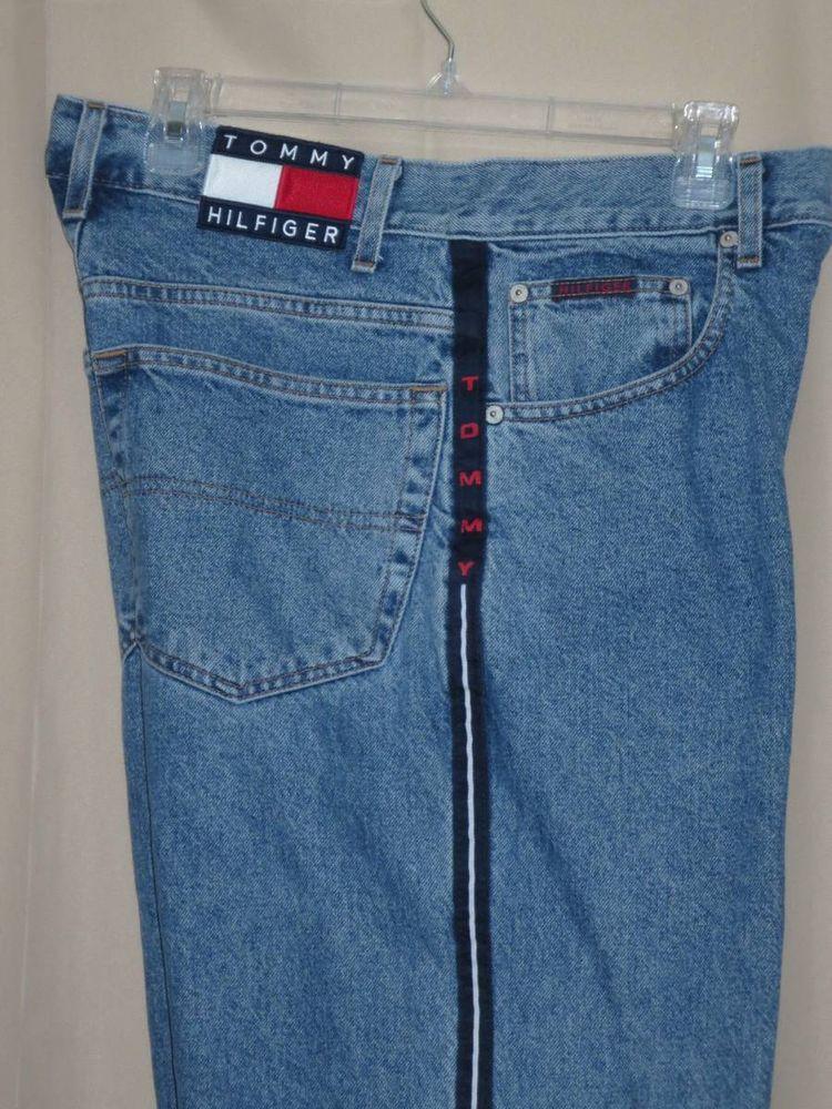 vintage size 32x32 32x29 tommy hilfiger denim jeans logo. Black Bedroom Furniture Sets. Home Design Ideas