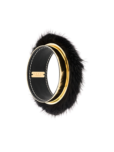 MARNI metal fur women leather grey metallic jewels