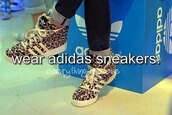 shoes,sneakers,leopard print,adidas
