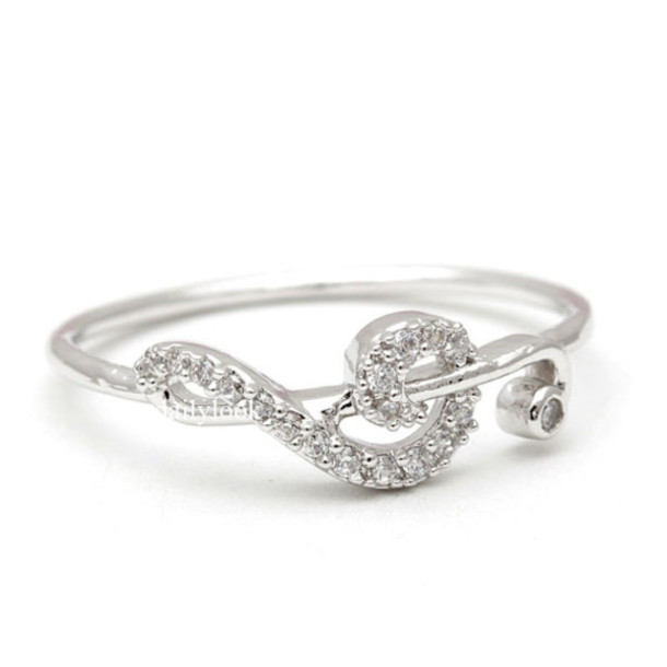 jewels jewelry ring clef clef ring music ring prom ring simple ring