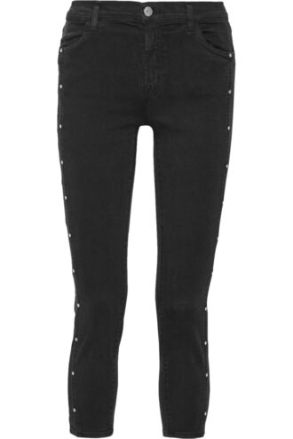 jeans skinny jeans studded cropped black