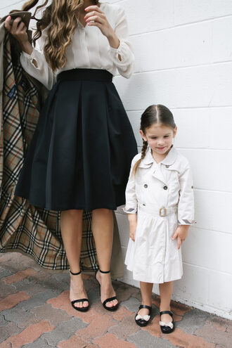 mint arrow blogger shoes skirt coat blouse dress