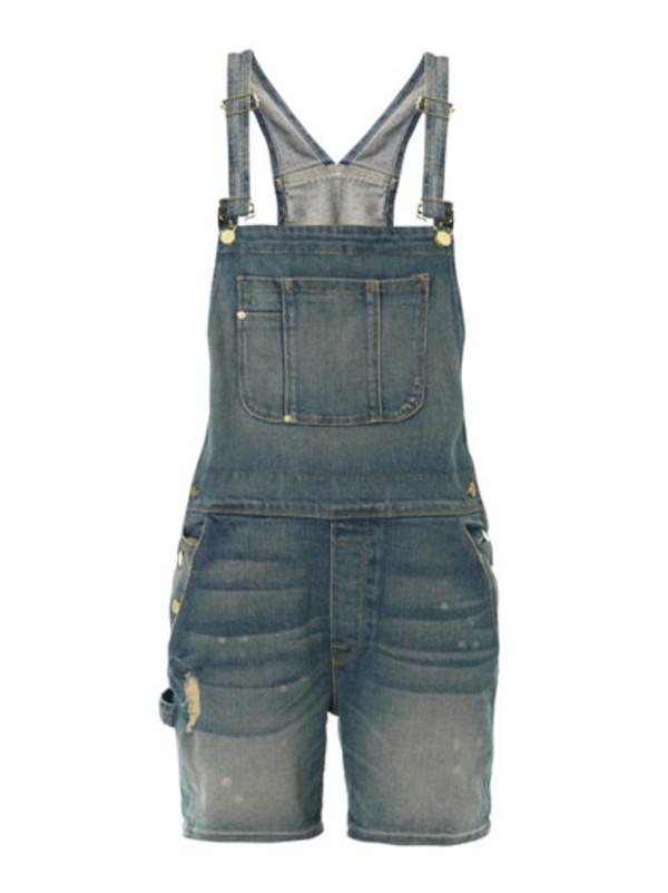 shorts le garcon all-in-one overalls denim indigo