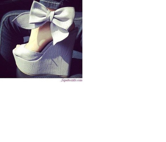 shoes cute bows high heels blue heels bow heels platform shoes