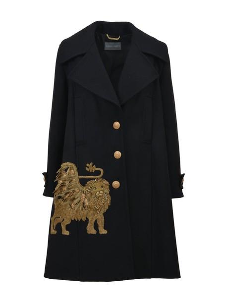 Alberta Ferretti coat embroidered black