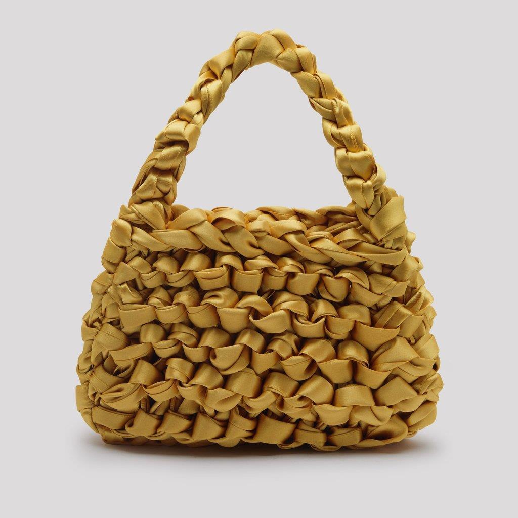 Theodore Goldenrod Satin Mini Tote Bag