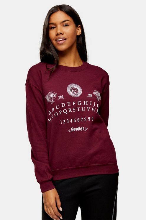 Burgundy Alphabet Sweatshirt - Burgundy