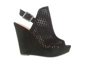 shoes,peep toe heels,wedges,black,platform shoes,free vibrationz