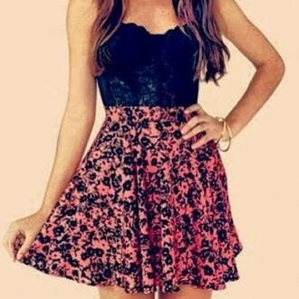 skirt crop tops skater skirt floral skirt