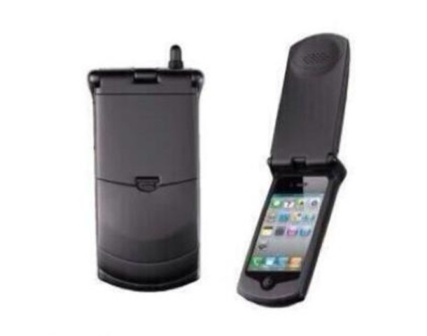 new arrival 4443a ee00e Thumbs Up Retro iPhone 4 4S Case 90's Motorola StarTAC Style Cover Flip Case
