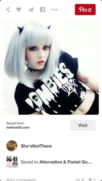 top crop tops black and white black quote on it grunge t-shirt grunge gothic lolita goth kawaii grunge graphic tee zombie