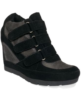 G by GUESS Women's Majestey Wedge High Top Sneakers - Finish Line Athletic Shoes - Macy's