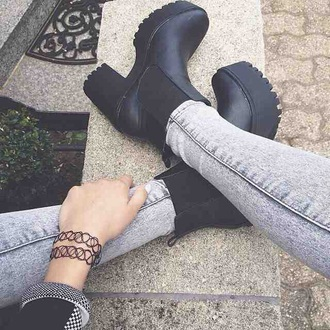 shoes boots ankle boots grunge