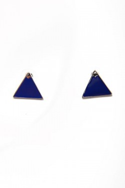 True Blue Triangle Studs